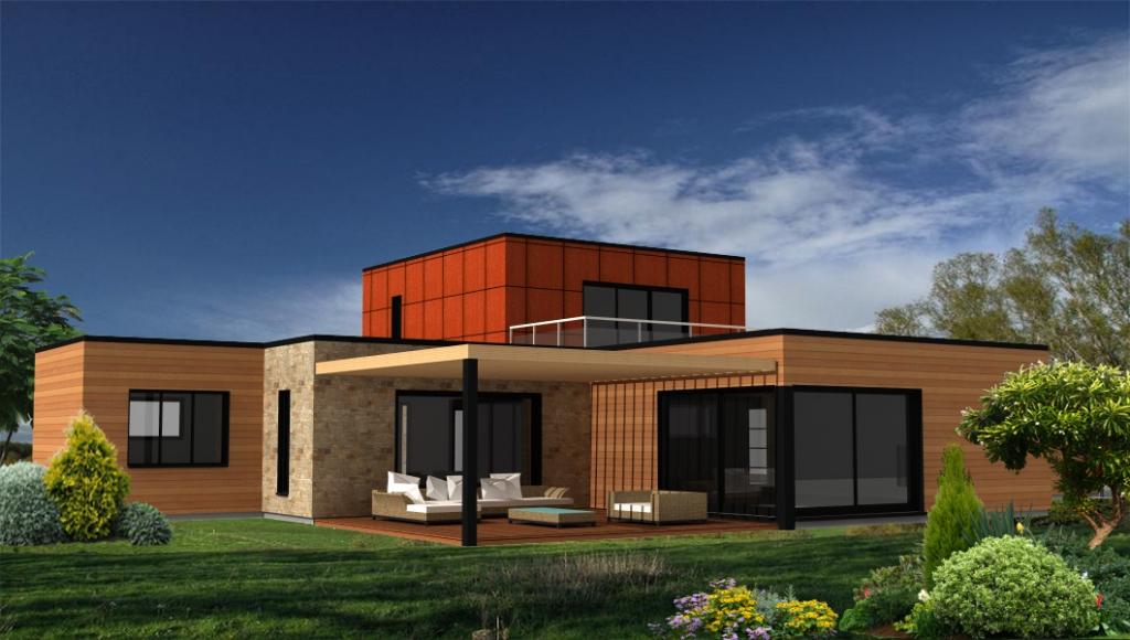 Projet en cours - Maison bois moderne - Suite parentale à l