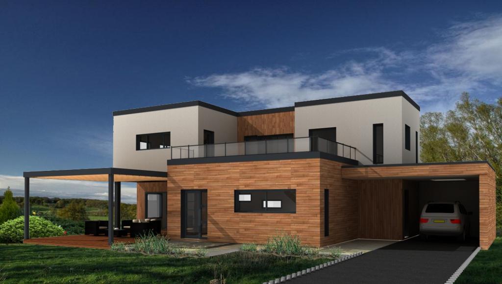 Projet en cours - Maison bois moderne 160m² Vallée de Seine