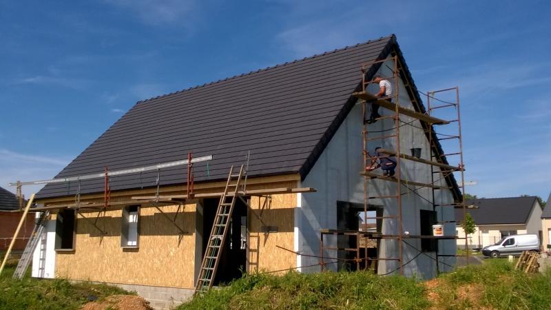Construction neuve maison bois avec ravalement - Evreux