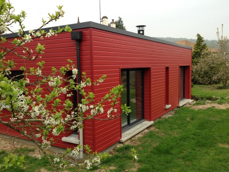 Extension 80m² - Bardage bois rouge boeuf