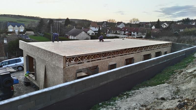 Pose du plancher du toit terrasse