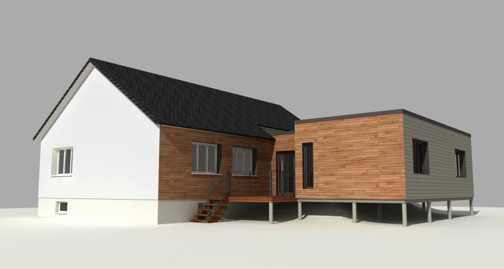 Projet en cours - Agrandissement ossature bois à VERNON 27